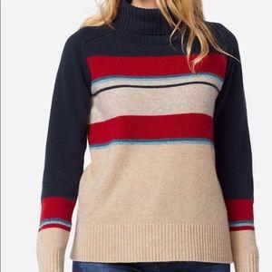 Pendleton Camp Stripe Wool Turtleneck -New